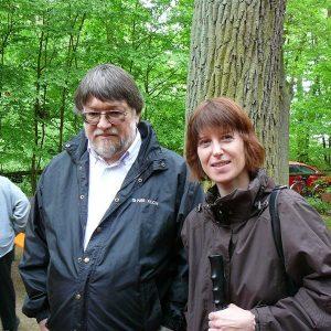 Gemeinsam mit dem Fraktionsvorsitzenden Lothar Wendel (verstorben) der SPD Messel auf dem Waldfest im Mai 2010