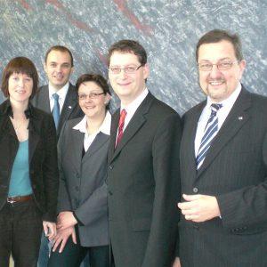 Gemeinsamer Besuch von Heike Hofmann mit Thorsten Schäfer-Gümbel und den weiteren Kandidaten der SPD aus dem Umland Patrick Koch, Astrid Starke, 2009