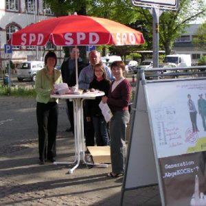 Mit dem Ortsverein Seeheim-Jugenheim beim Sammeln von Unterschriften gegen die Studiengebühren der Landesregierung im April 2007