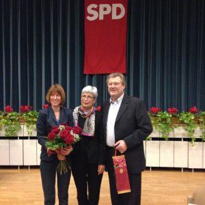 Neujahrsempfang SPD Mühltal Februar 2013 mit Ruth Breyer (OV Vorsitzende) und Herbert Dobner, Landtagskandidat