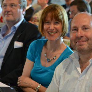 Landesparteitag im Juni 2013 v.l.n.r.: Herbert Dobner, Heike Hofmann, Michael Bastian