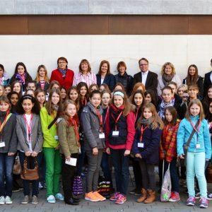 Gruppenbild der Besucherinnen am Girlsday 2014