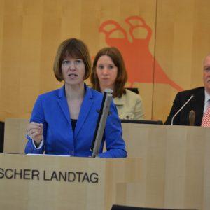 """Heike Hofmann bei Ihrer Plenarrede zum Thema """"Keine NSA-Geheimdienstzentrale in Hessen am 3.04.2014"""