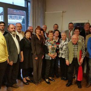 Heike Hofmann bei der Ehrung langjähriger SPD-Mitglieder in Pfungstadt am 16. November 2014