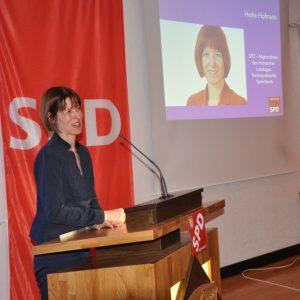Heike Hofmann als Rednerin auf dem Neujahrsempfang der SPD Erzhausen