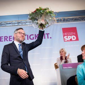 Eindruck vom Landesparteitag: Michael Roth, Spitzenkandidat